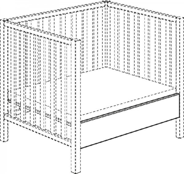 SCOTTY Sofaseite schiefergrau für Umbau Laufgitter zu Sofa