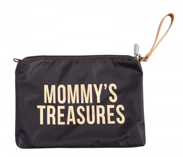 Mommy Clutch Schwarz Gold
