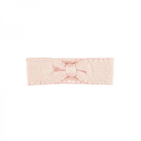 Haarband elastisch Trikot Rosa mit Glitzer