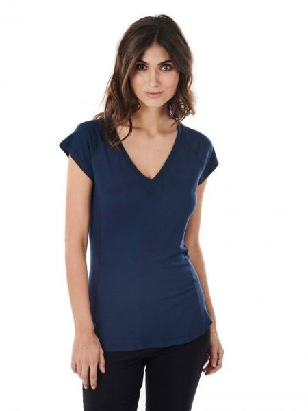 Women M T-Shirt V-Hals midnight blue