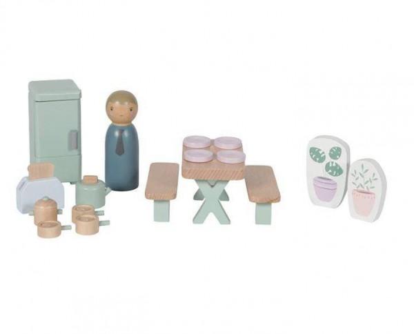 Puppenhaus Spielset Küche 19-teilig