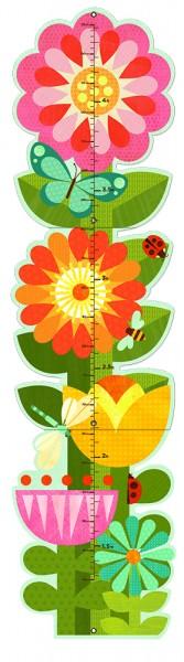 Wandmeter Gartenblumen