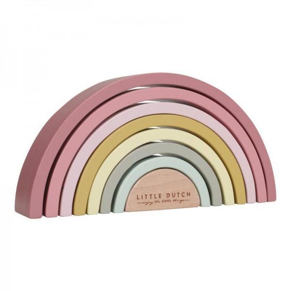 Regenbogen aus Holz pink
