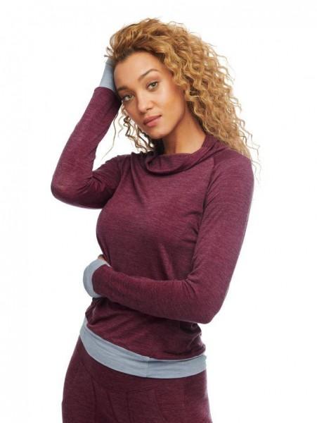 Women L Langarmshirt burgundy stay warm