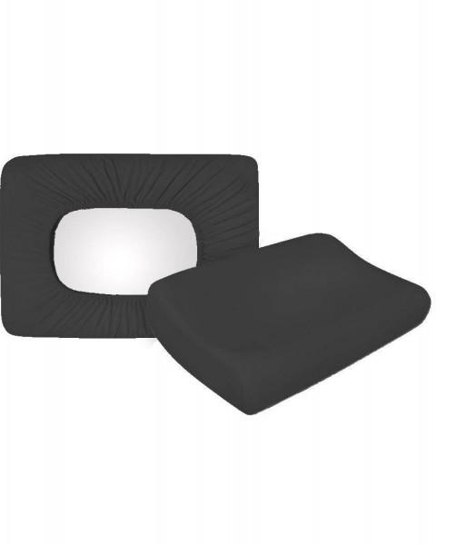 Jersey Bezug anthrazit 40x60 Souplesse Antipilling