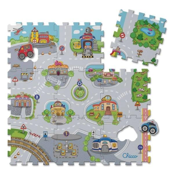 Puzzlematte City 9-teilig