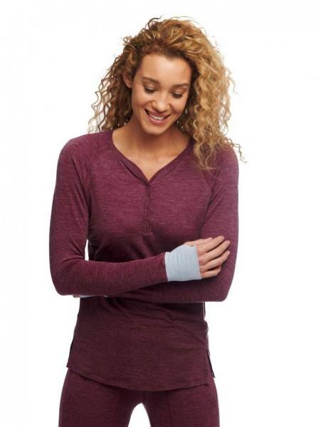Women XL Tunica burgundy stay warm