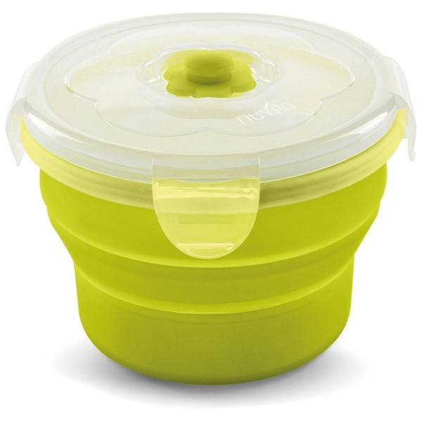 Silikonbehälter faltbar 230ml mit Deckel grün