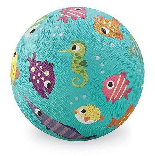 18cm Ball Kautschuk Fische türkis