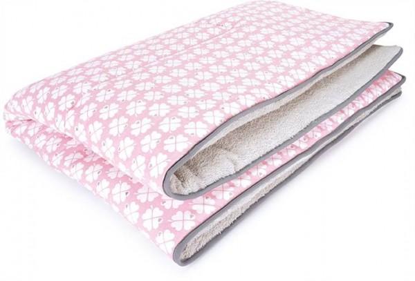 ALADIN 100x135 Krabbeldecke glücksklee rosa