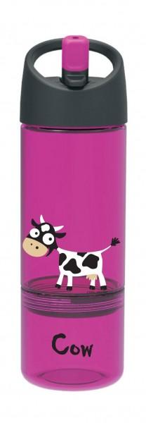 Bottle 2in1 300ml + 100ml Snack pink