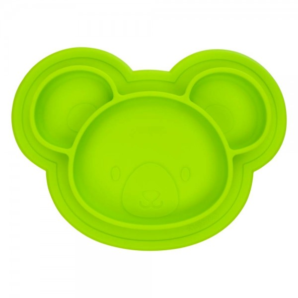 Silikonteller grün Bär