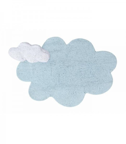 Kinderteppich Puffy Dream blau Wolke waschbar