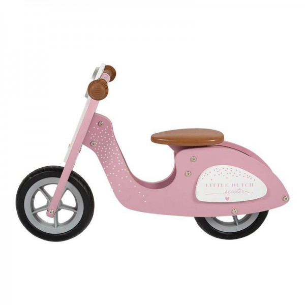 Holz Laufrad Roller pink