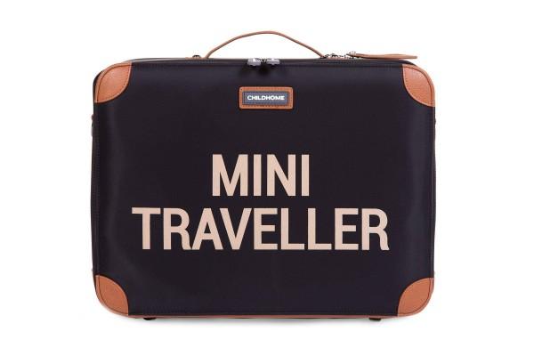 Mini Traveller Koffer schwarz-gold