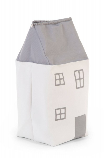 Spielzeugtasche Haus grau