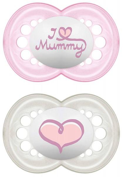 2 Original I love Mummy 6-16Mt Silikonnuggi