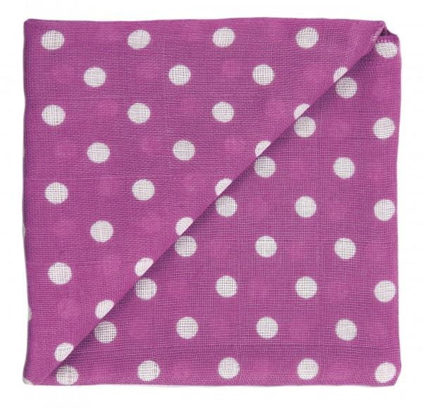 ZEWI-Baby-Gaze bedr. violett Punkte