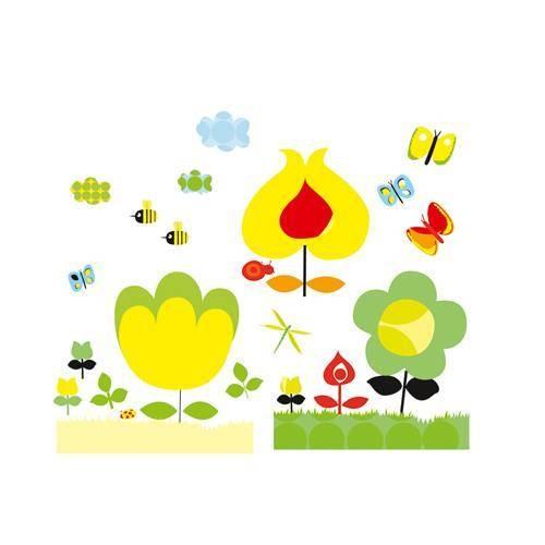 Wallsticker Yellow Flowers
