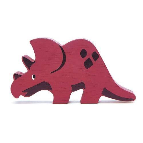 Holztier Triceratops
