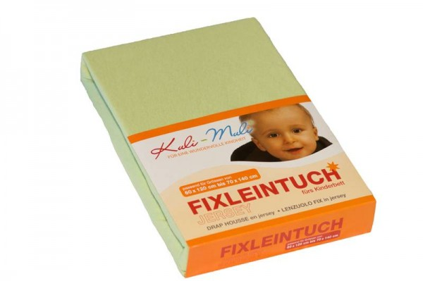Fixleintuch Jersey 70/140 lindgrün
