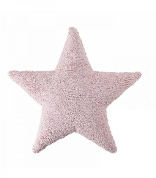 Kissen Star pink 54x54 waschbar