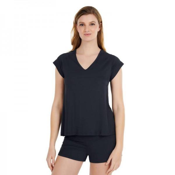 Women L T-Shirt Navy Stay cool