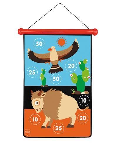 Dart-Spiel Indianer gross mit Magnetpfeilen