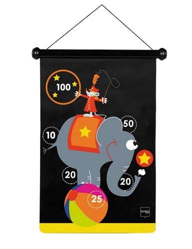 Dart-Spiel Zirkus gross mit Magnetpfeilen