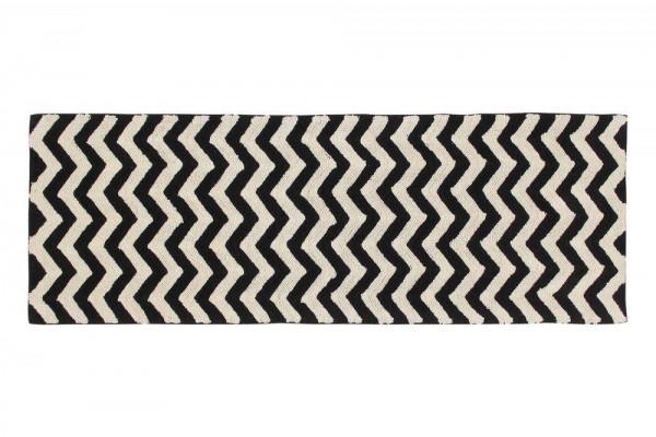 Teppich Black&White zigzag 80x230cm