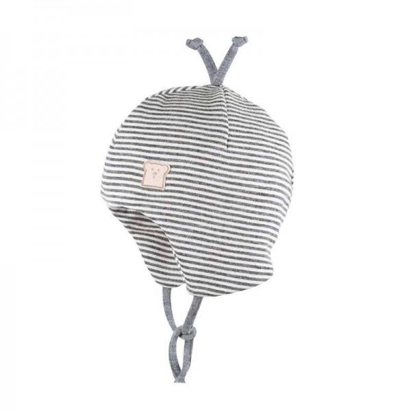 Binde-Mütze 9501 silber-weiss