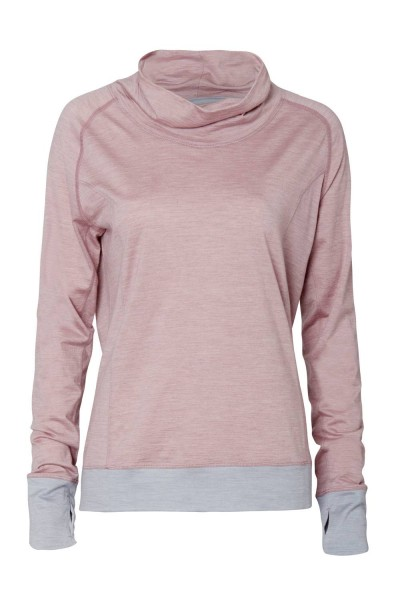 Women L Langarmshirt dusty pink stay warm