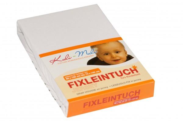 Fixleintuch Jersey 70/140 weiss