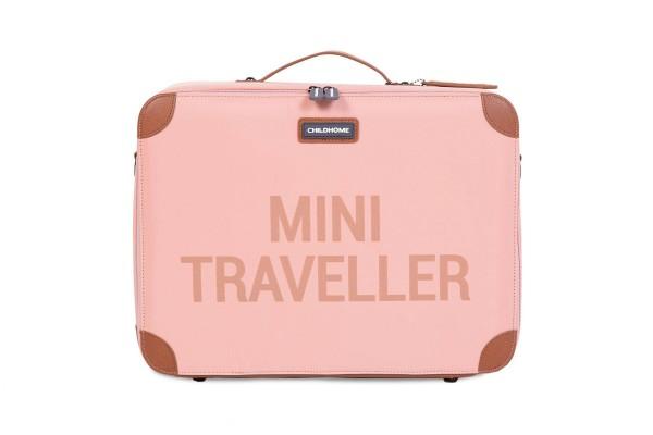 Mini Traveller Koffer rosa-kupfer