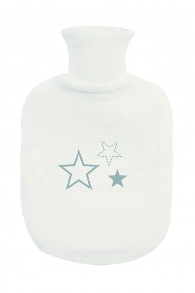 Bettflasche mit Frotteebezug silver Stars