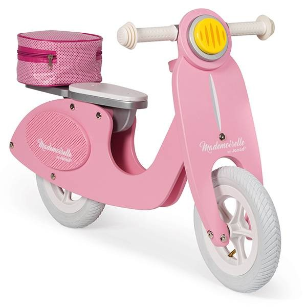 Roller Holz pink mit Korb