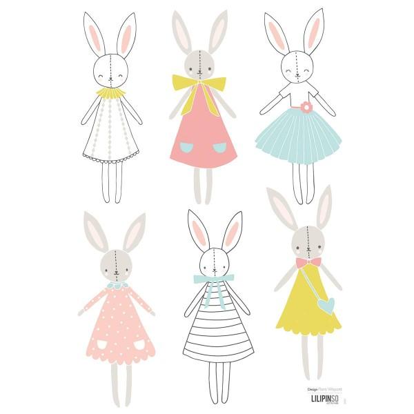 A3 Sticker Rabbit Girl