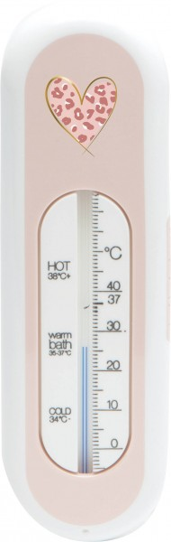 Badethermometer pink Leopard