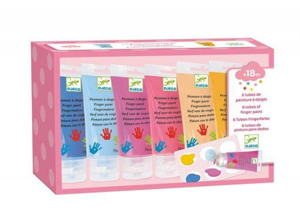 Fingerfarben in der Tube Sweet 6x1assortiert