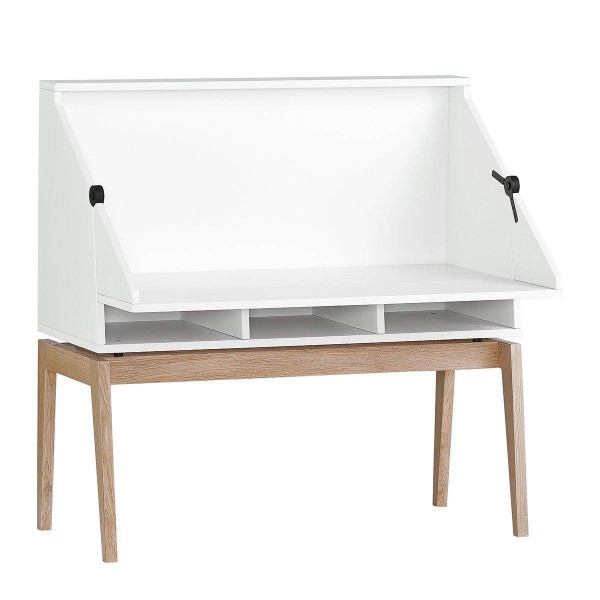 Luna Schreibtisch mit Beine Weiss/Eiche