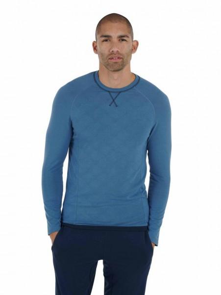 Men XXL Langarmshirt Still blue Balance