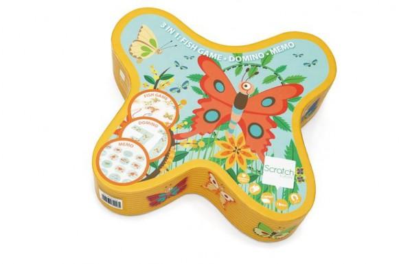 Spiele 3in1 Schmetterling