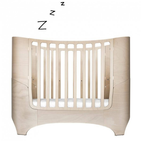 Baby-Junior Leander Bett whitewash ohne Matratze
