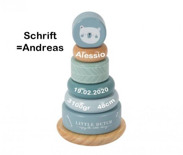 Stapelturm personalisiert blau