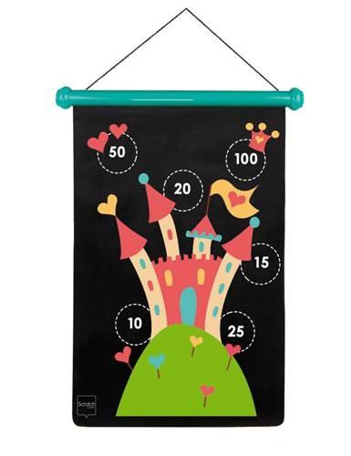 Dart-Spiel Prinzessin gross mit Magnetpfeilen