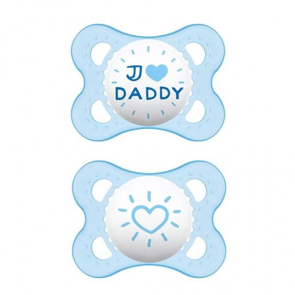 2 Original 0-6 I Love Daddy blau