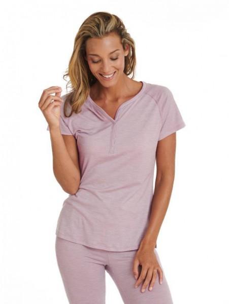 Women S T-Shirt dusty pink stay warm