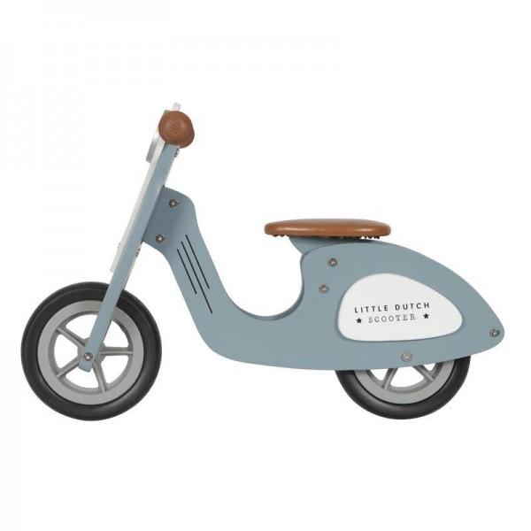 Holz Laufrad Roller blue
