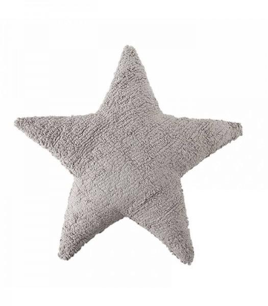 Kissen Star hellgrau 54x54 waschbar
