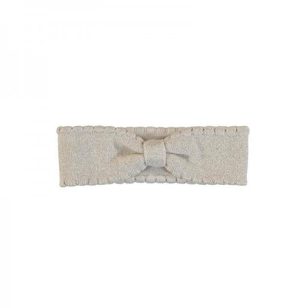 Haarband elastisch Trikot Gold mit Glitzer